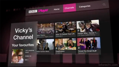Vicky's Channel - proposal for personalisation on the BBC iPlayer. Source: BBC