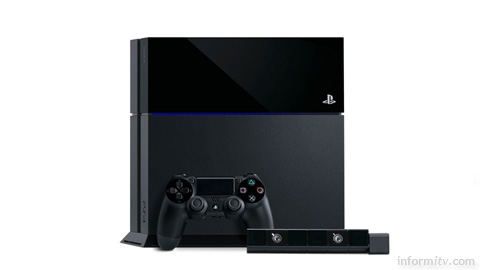 Sony PlayStation 4 games console and optional 4 Eye sensor.