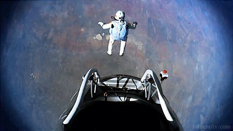 World Television Day celebrated in a video released by organisations including the EBU. Featuring Felix Baumgartner and his world record jump from the stratosphere. Video: EBU, EGTA, ACT. Image: Red Bull Stratos