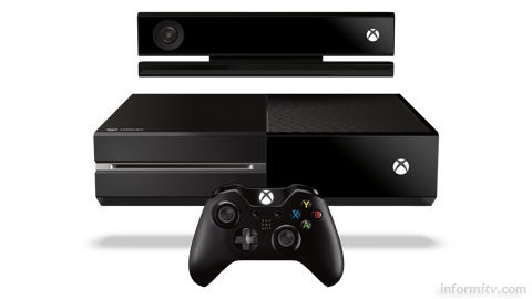 Microsoft Xbox One games console and Kinect 2.0 sensor.