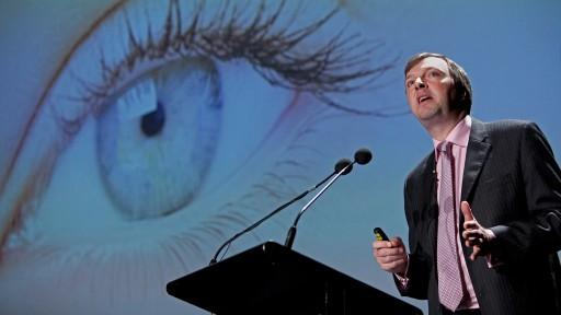 Dr William Cooper of informitv, speaking at X Media Lab, Sydney Opera House. Photo: raycashphotography.com