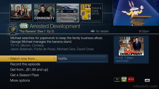TiVo Roamio user interface