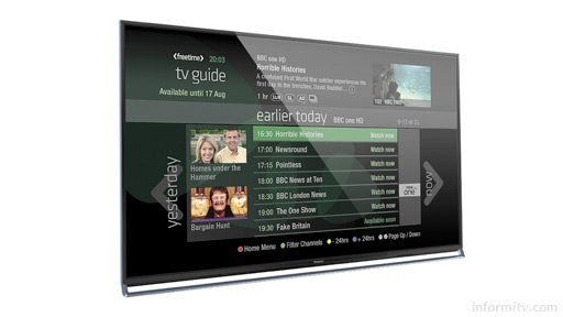Panasonic will offer the Freetime guide on selected new VIERA television models.