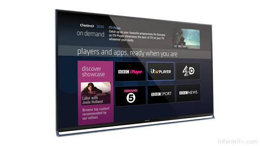 Panasonic VIERA televisions with Freetime will support both satellite and terrestrial transmissions and links to the online players of public service broadcasters.