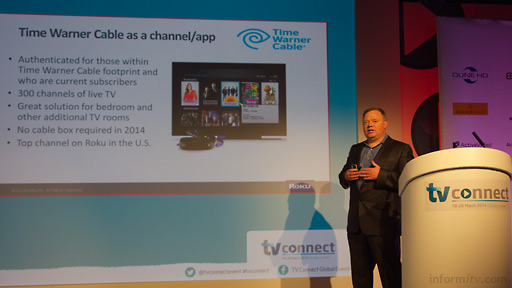 Anthony Wood, the chief executive of Roku, speaking at TV Connect 2014. Photo: informitv.