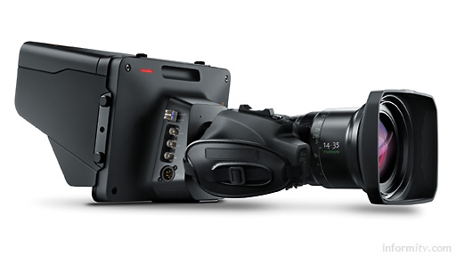 Blackmagic Studio Camera, shown with ENG lens. Photo: Blackmagic Design.