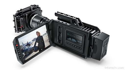 Blackmagic URSA Camera, shown with PL mount lens. Photo: Blackmagic Design.