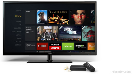 Amazon Fire TV brings Amazon Prime and other online services to the television screen. Photo: Amazon.