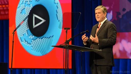 Gordon Smith, the president and chief executive of NAB, opening the NAB Show 2014 in Las Vegas. Photo: Robb Cohen.