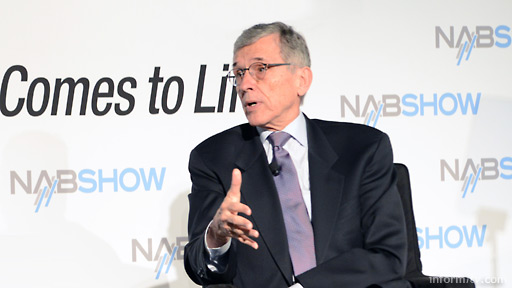 Federal Communications Commission chair Tom Wheeler speaking at the NAB Show 2014 in Las Vegas. Photo: Robb Cohen.