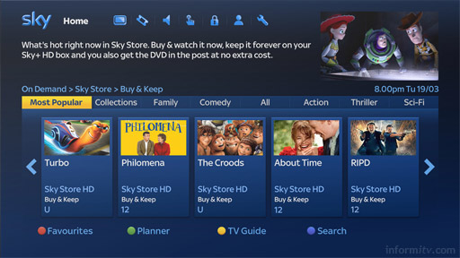 Sky Store offers movie downloads to a Sky+ box plus a disc in the mail