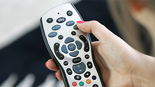 Sky gains subscribers through multiscreen strategy. Sky Remote control. Photo: Sky.