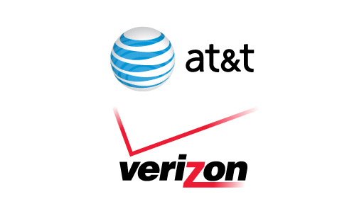 AT&T and Verizon logos.