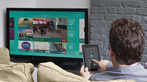 EE TV tablet remote control. Photo: EE