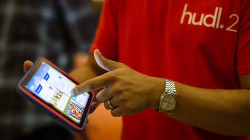 Tesco hudl 2 tablet demonstrated at launch in London
