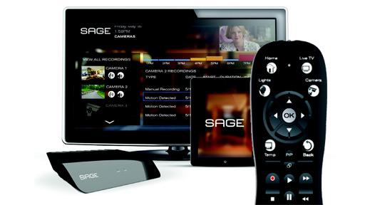EchoStar Sage apps and remote control.