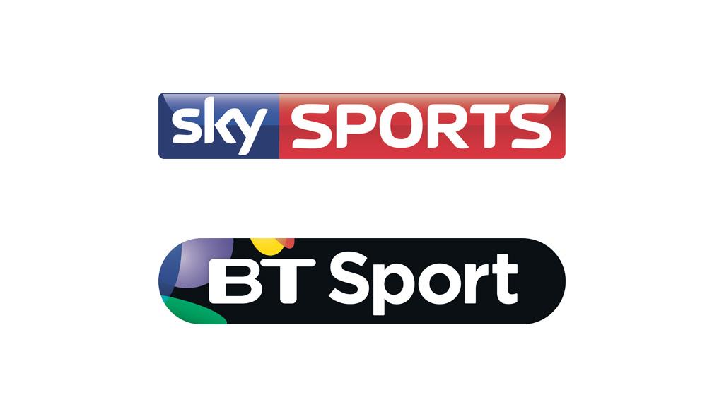 Sky Sports and BT Sport logos
