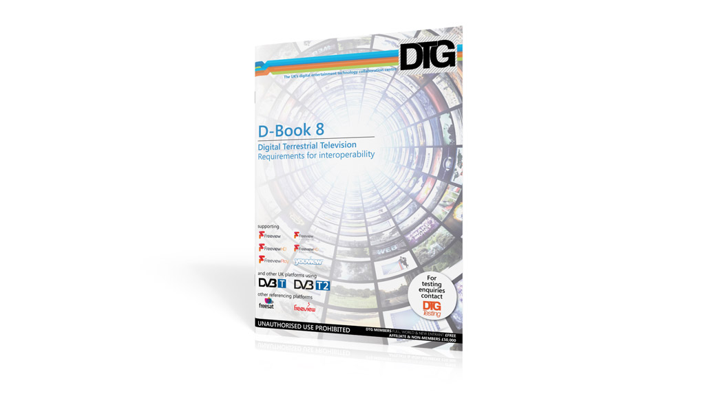 DTG D-Book 8 Digital Terrestrial Television specification for the United Kingdom.
