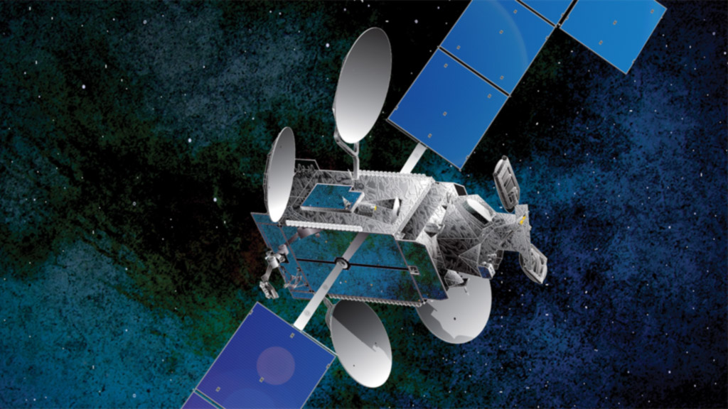 DIRECTV-14 satellite, artist rendering, Space Systems/Loral.
