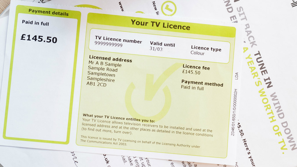 TV Licence: Source: TV Licensing