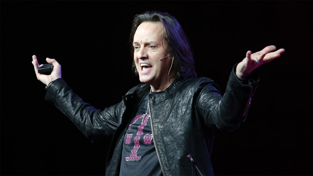 John Legere, the chief executive of T-Mobile in the United States, speaking in New York, March 2015. Photo: T-Mobile US.