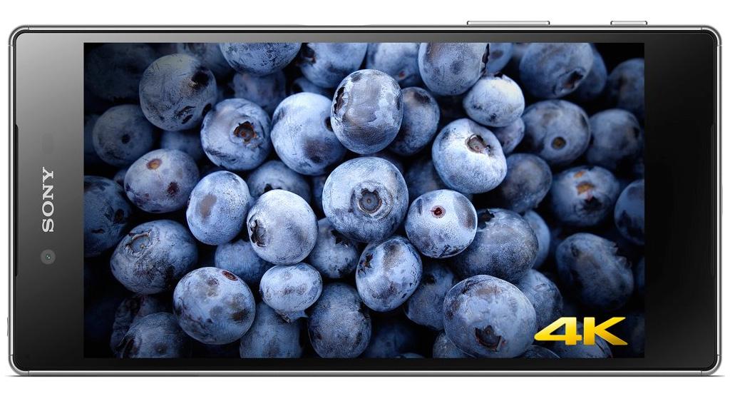 Sony Xperia Z5 Premium phone with a 4K display. Image: Sony.