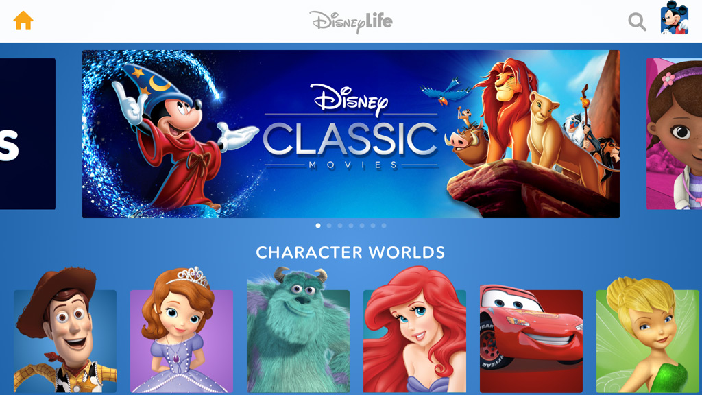 DisneyLife online subscription service