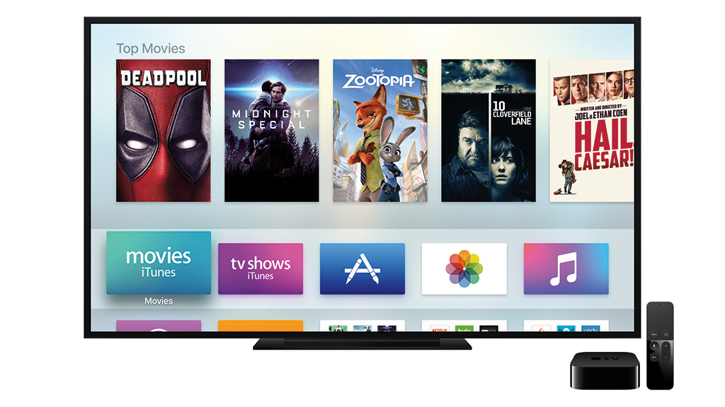 Apple TV 4 user interface. Image: Apple