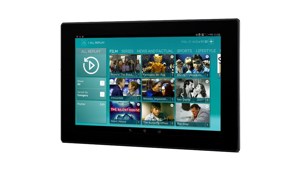 EE TV tablet app. Image: EE
