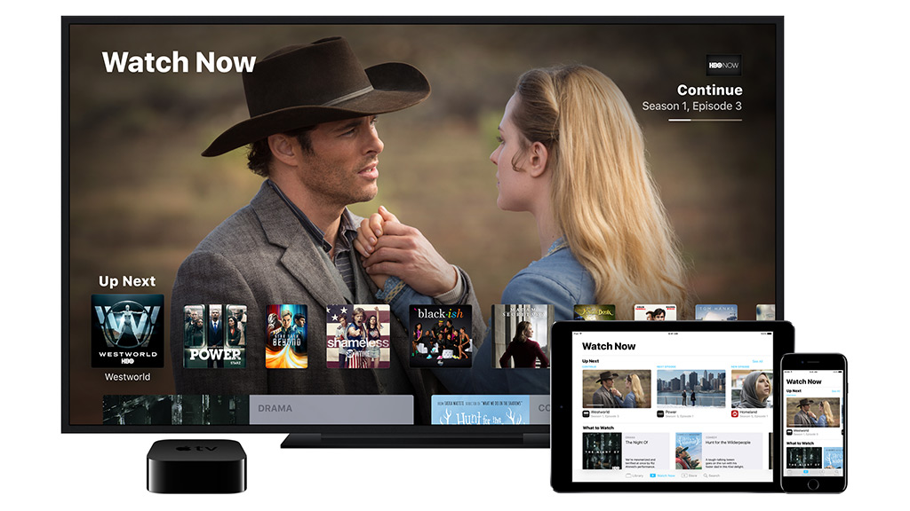 Apple TV app showing Watch Now shows. Image: Apple.