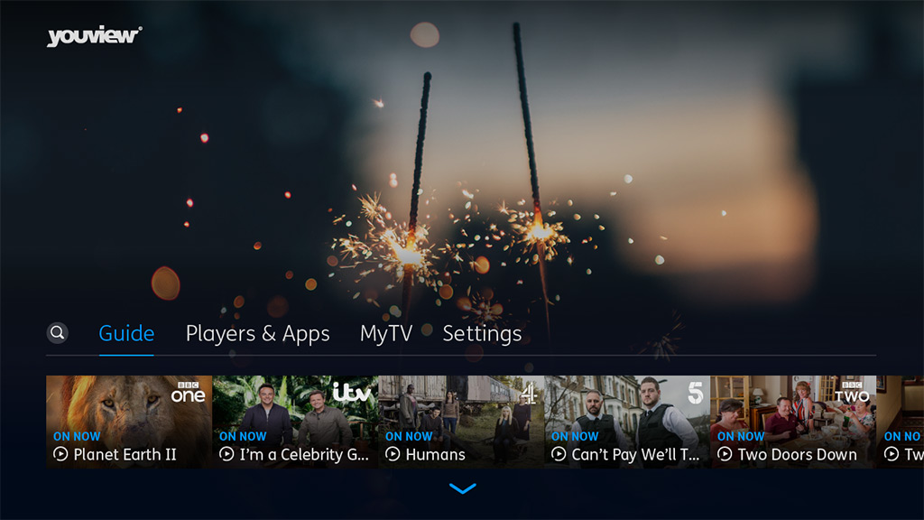 YouView user interface. Image: YouView.
