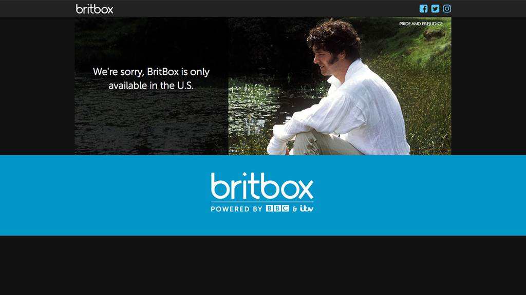 Britbox web site for the joint venture between the BBC and ITV.