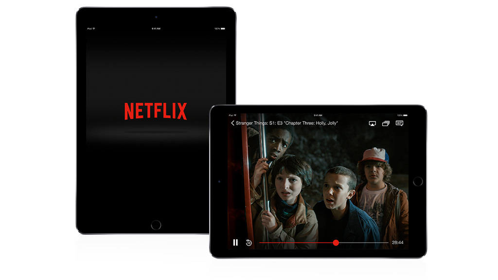Netflix on an Apple iPad. Image: Netflix.