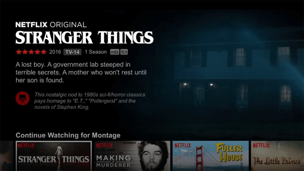 Netflix uses video previews to promote titles. Image: Netflix.