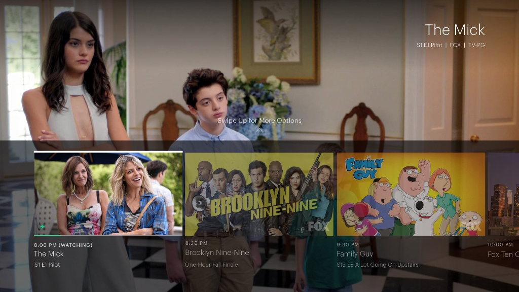 Hulu live user interface.