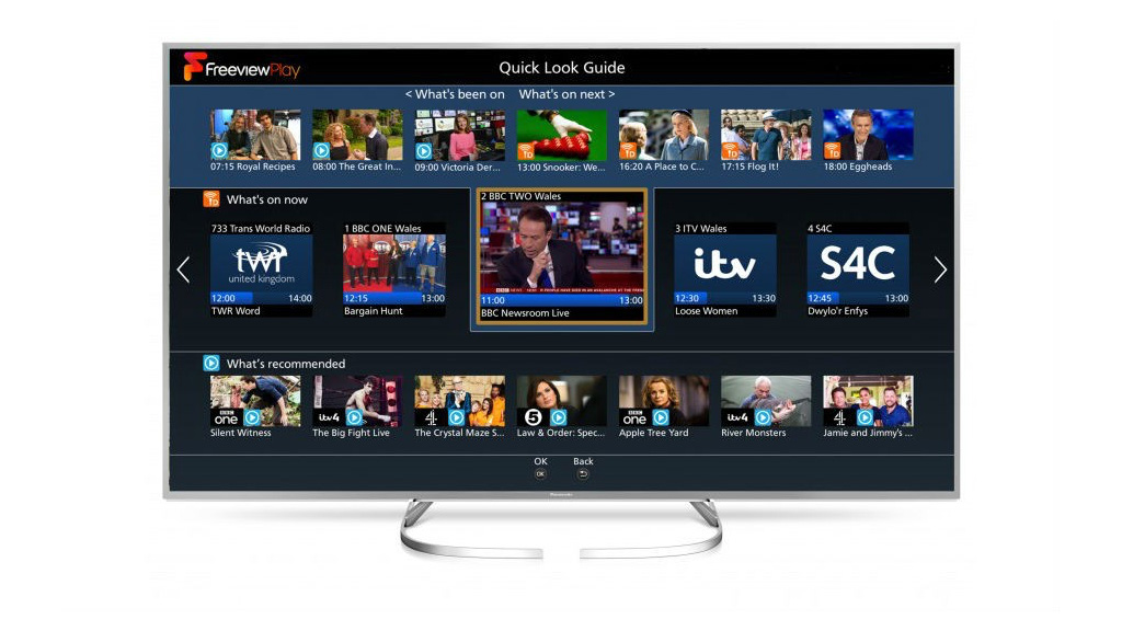 Freeview Play on a Panasonic 2017 TV.