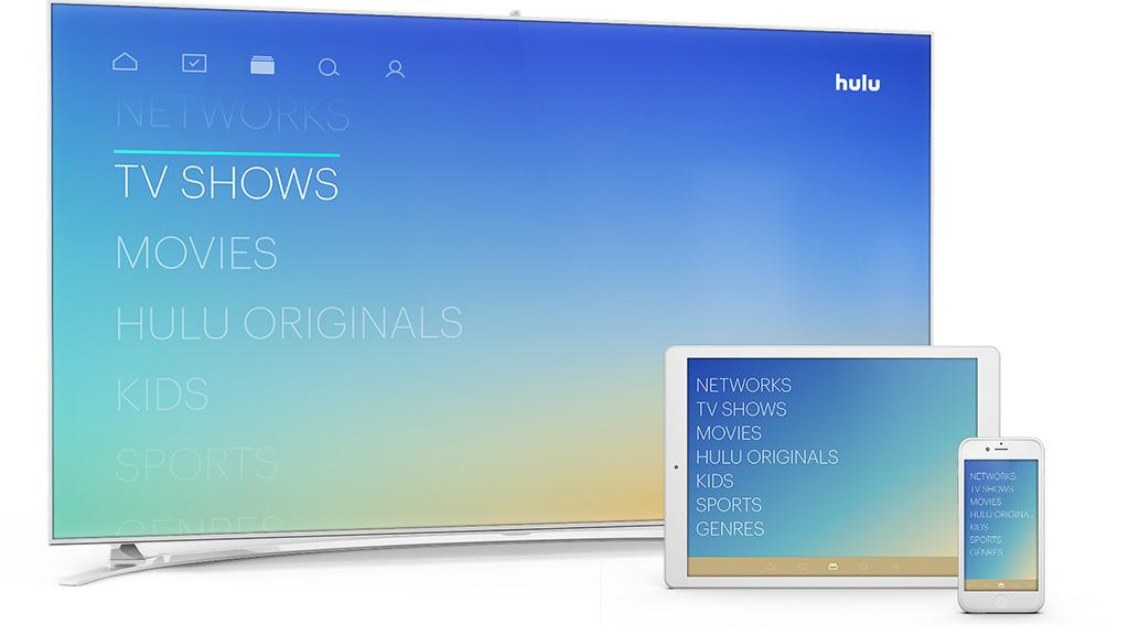 Hulu TV - Home screen.