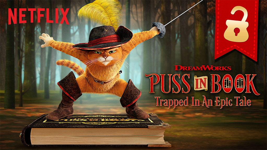 Puss in Book: Trapped in an Epic Tale. Image: Netflix, Dreamworks Animation.