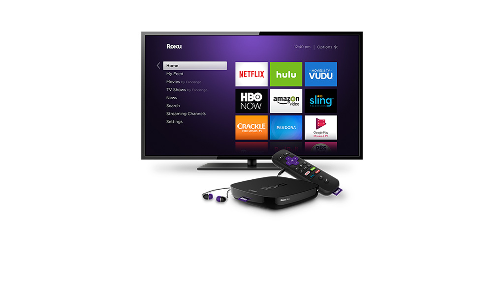 Roku Ultra user interface on a television screen.
