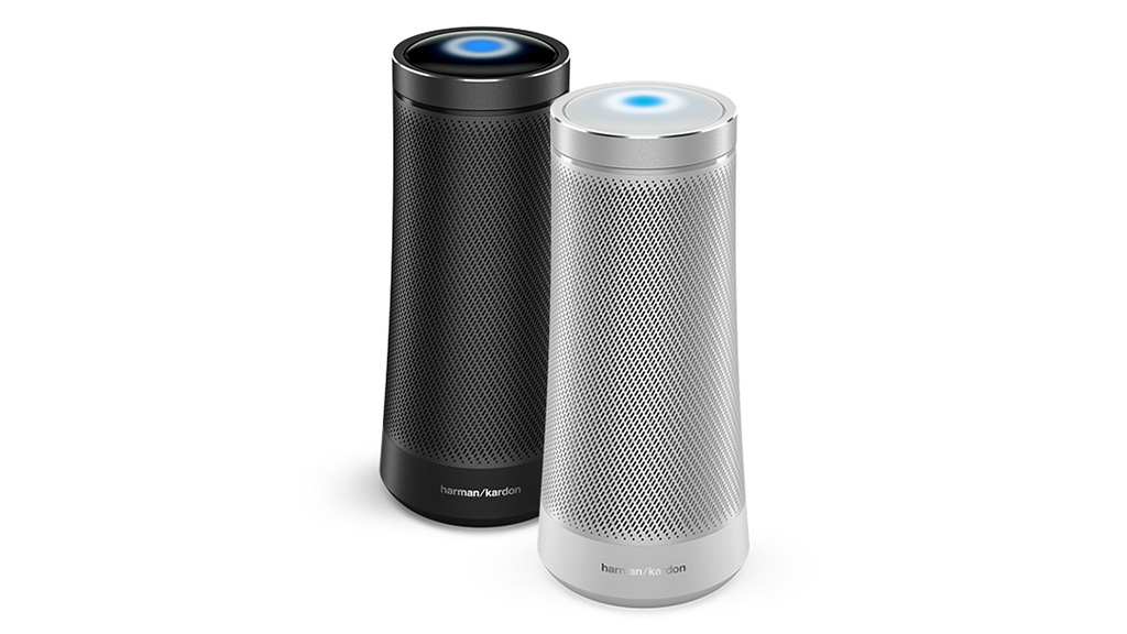 Harman Kardon Invoke smart speaker with Microsoft Cortana.