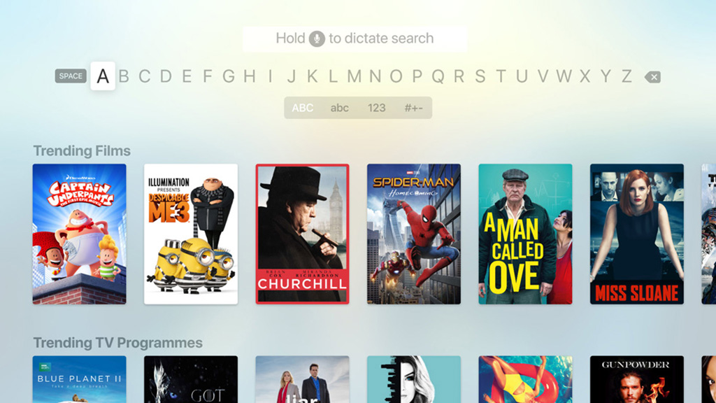 Apple TV app showing unified search. Image Apple
