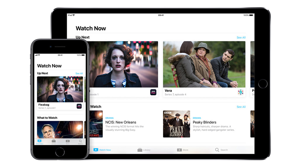 Apple TV app on iPhone and iPad. Image: Apple.