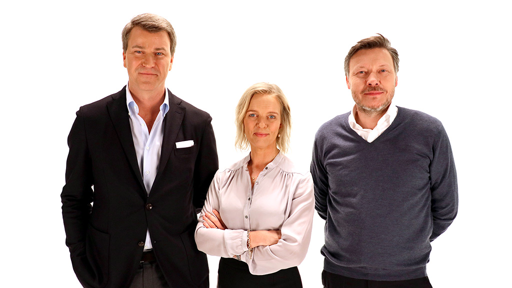Anders Jensen, EVP MTG, Chairman of MTG Nordic Entertainment; Pernille Erenbjerg, President and Group CEO, TDC Group; Jørgen Madsen Lindemann President and CEO, MTG