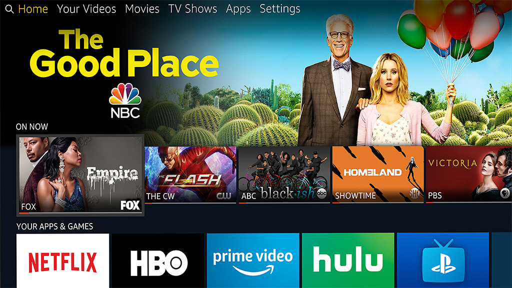Amazon Fire TV Edition user interface on a Toshiba 4K Ultra HD television. Image: Amazon.