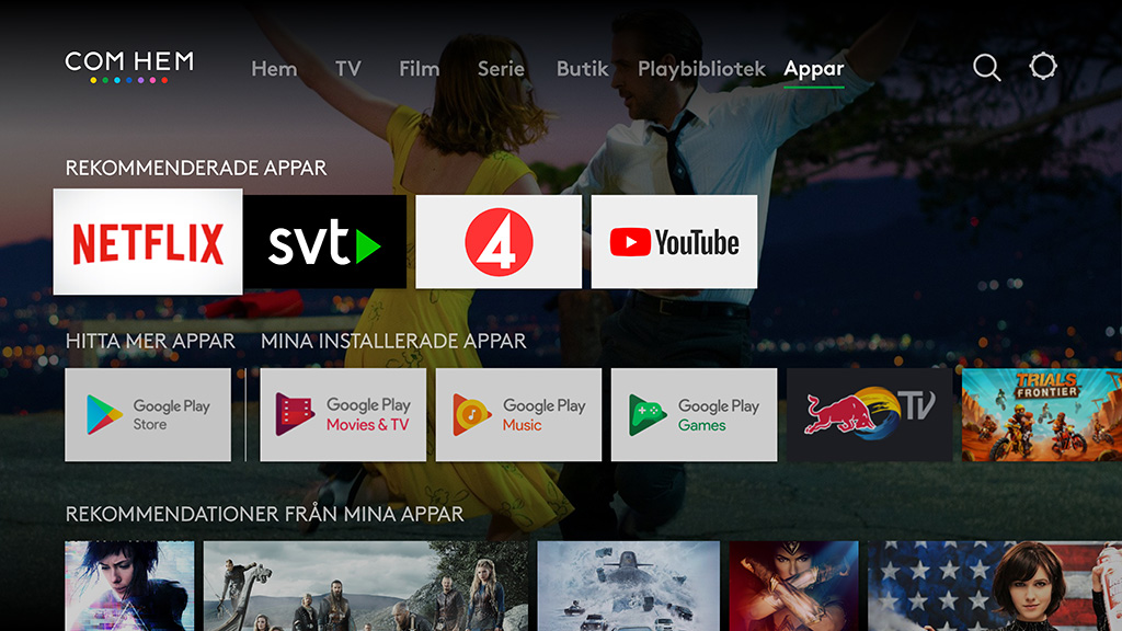 Com Hem TV Hub apps