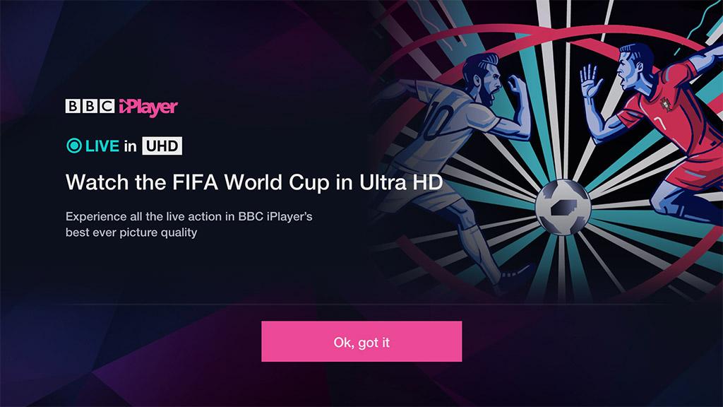 World Cup Ultra HD BBC iPlayer