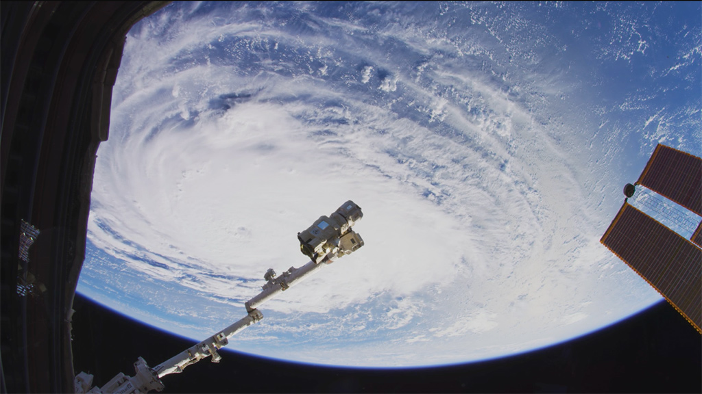 8K video from the International Space Station, shot on a RED Helium camera. Courtesy NASA and ESA.
