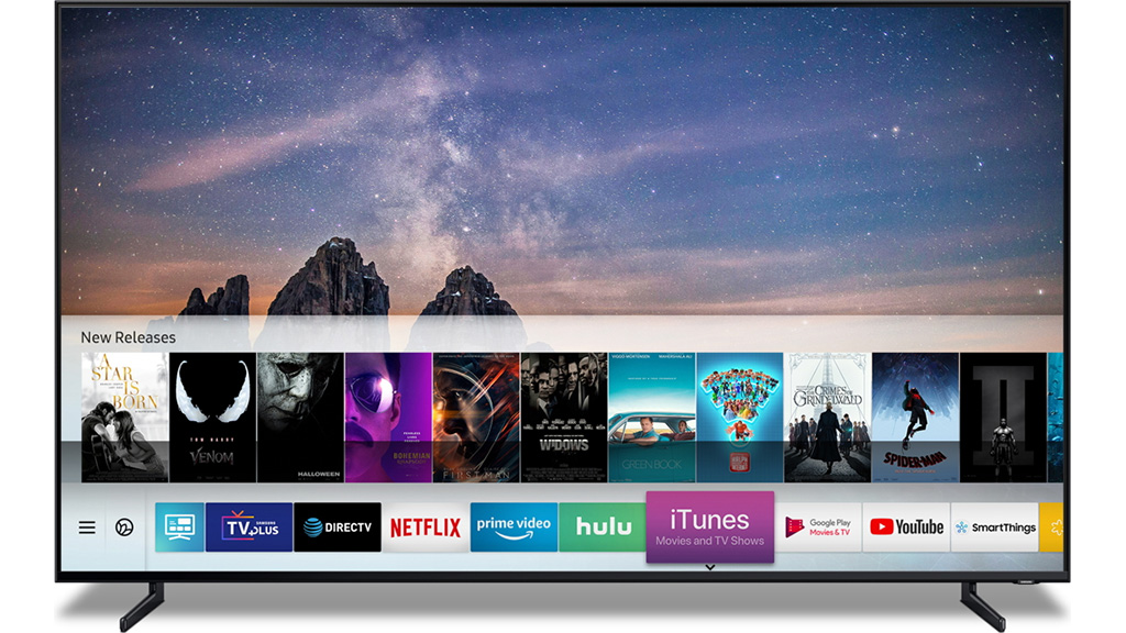 Samsung television with iTunes support