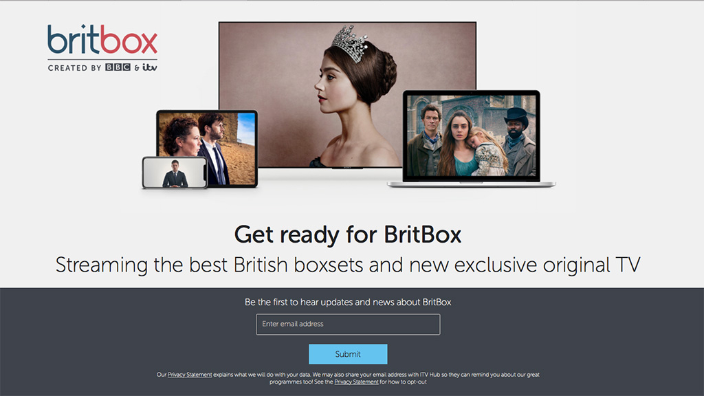 BritBox holding page