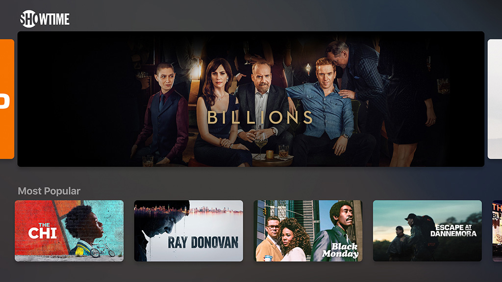 Apple TV app Showtime